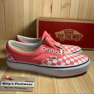NEW VANS Era Checkered Strawberry | White Shoes